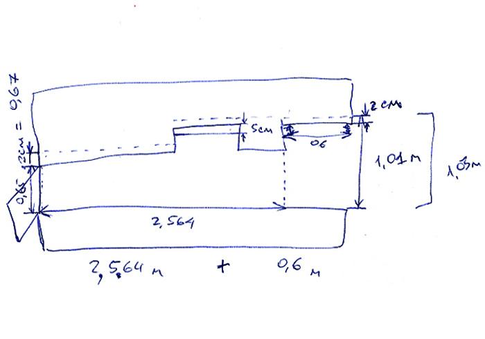 схема и чертеж вставки на